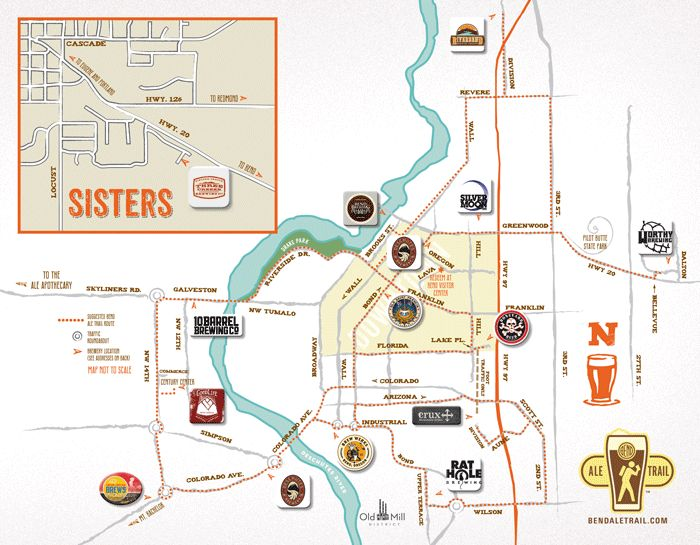 Bend Ale Trail Map