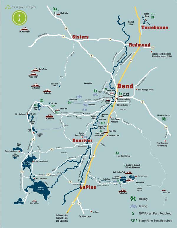 Bend Biking and Hiking Map