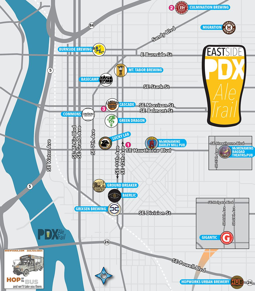 Breweries In Portland Oregon Map.Sidestreet Mobile